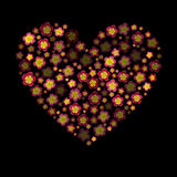 Heart with 3d effect. Flower heart Vector. Royalty Free Stock Images