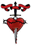 Heart with a dagger Stock Image