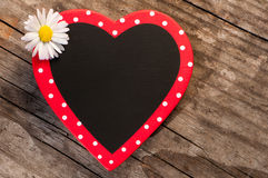 Heart with daisy flower Stock Photos