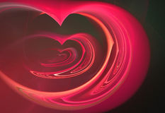 Heart on a dark background Royalty Free Stock Image
