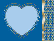 Heart on dark blue background Stock Images