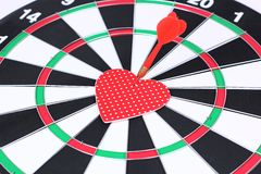 Heart dart Stock Image
