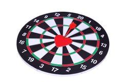 Heart dart, target of love Stock Images