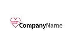 Heart data logo. A logo for companies that offer data analysis services for charities Royalty Free Stock Photography