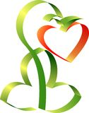 Heart Day  Valentine. Heart. Day  Valentine. Graphic design Royalty Free Stock Image