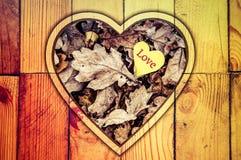 heart de coeur d'amour dans des mains Photographie stock libre de droits