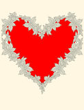 Heart decorated with flowers Stock Photography