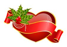 Heart is decorated a ribbon Stock Image