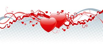 Heart decoration. Vector abstract Valentines background with hearts Royalty Free Stock Photography