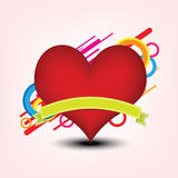 Heart and decoration Royalty Free Stock Photos