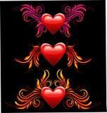 Heart decoration set Royalty Free Stock Image