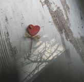 Heart decoration on the wood Stock Images