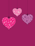 Heart decorations Stock Image