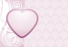 Heart on the decorative background Royalty Free Stock Photo