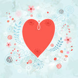 Heart on a decorative background Stock Image