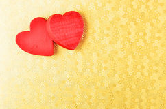 Heart on decorative background Stock Photo