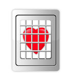 Heart in decorative cage isolated Royalty Free Stock Photography
