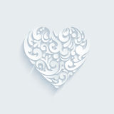 Heart decorative shape formed abstract creative floral elements Royalty Free Stock Photo