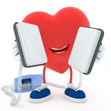 Heart with defibrillator Stock Photography