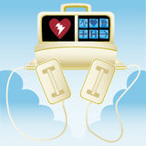 Heart defibrillator Royalty Free Stock Images