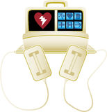 Heart defibrillator - no background Stock Photography