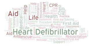 Heart Defibrillator word cloud, made with text only. Heart Defibrillator word cloud, made with text only royalty free illustration