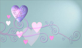 Heart design. Design with heart and decorativ elements for postcard ore wedding invitation Stock Images