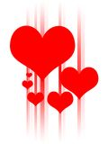 Heart Design. Hearts in an abstract design royalty free illustration