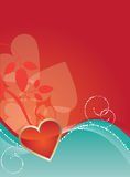 Heart Design. Brightly colored valentines day background Royalty Free Stock Photos