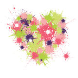 Heart design. Illustration with splashes in heart shape Royalty Free Stock Photos