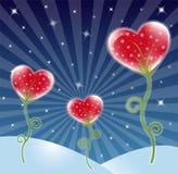 Heart design. Flower background with heart, star and wave pattern, element for design, vector illustration stock illustration