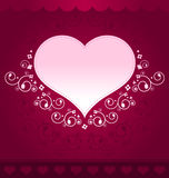 Heart Design on dark pink background Stock Photography
