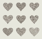 Heart design an element. Collection heart on different themes of love. A vector illustration Stock Images