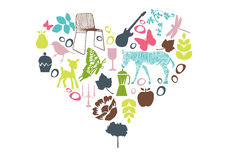 Heart with design elements Stock Image