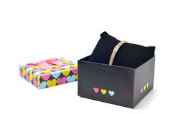 Heart Design Jewelry Box on white Stock Image