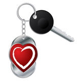 Heart design keyholder with key Stock Image