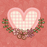 Heart. Design over pink bakgroun vector illustration Royalty Free Stock Photography