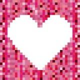 Heart design. Over pixel color background vector illustration Stock Photo