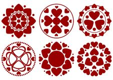 Heart design set Stock Photos