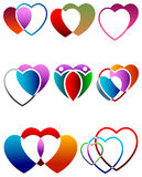 Heart design set Stock Image
