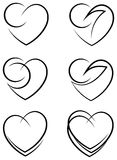 Heart design set Royalty Free Stock Images
