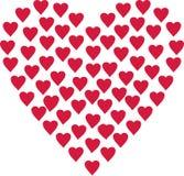 Heart designed of hearts. Vector Royalty Free Stock Photos
