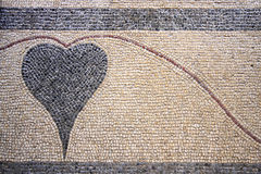A heart designed with stones Royalty Free Stock Image