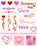 Heart designs. For valentine's day Royalty Free Stock Photo