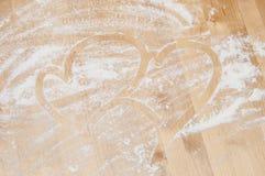 Heart on desk Royalty Free Stock Photos