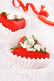 Heart dessert Royalty Free Stock Photo