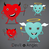 The heart of devil and  heart of angel Royalty Free Stock Photo