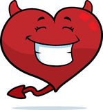 Heart Devil Smiling Stock Images