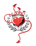 Heart of devil tails Royalty Free Stock Photo