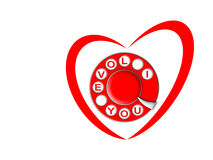 Heart and dial Royalty Free Stock Photography